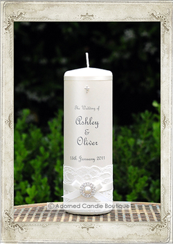img6430f Antique Pearl Wedding Candle