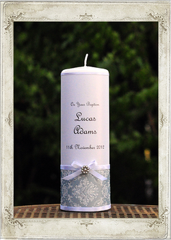 img7732fs Classic Blue Baptism Candle