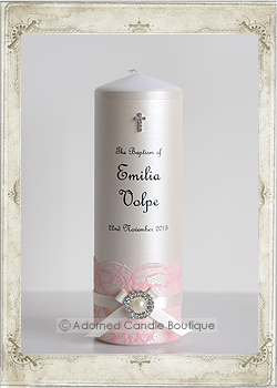 img2-0474 Antique Pearl in Vintage Pink Baptism Candle