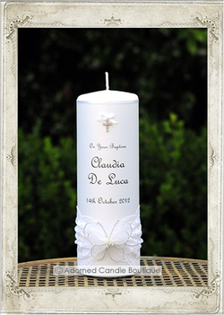 img6878f Butterfly Dream Baptism Candle