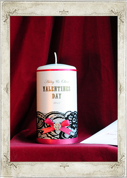 img5404fs Be My Valentine Valentine's Day Single Candle