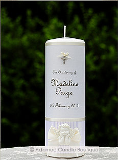 Angelic Lavender Christening Candle